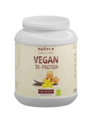 Nutri+ Pulver Vegan 3K Proteinpulver (1000g) in Vanilla-Toffee
