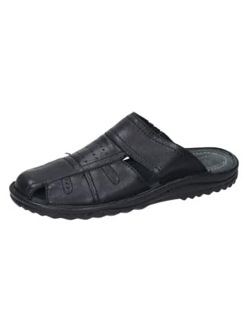 Comfortabel Komfort-Pantoletten in schwarz