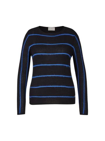 VIA APPIA Pullover in schwarz / royal