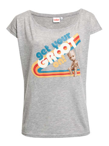 MARVEL Guardians of the Galaxy Loose-Shirt Get Your Groot in grau meliert
