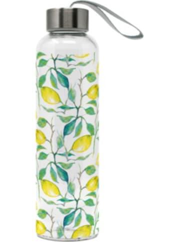 """Ppd Glas-Trinkflasche """"Zitronen"""" 0,55l mit Trageschlaufe"""