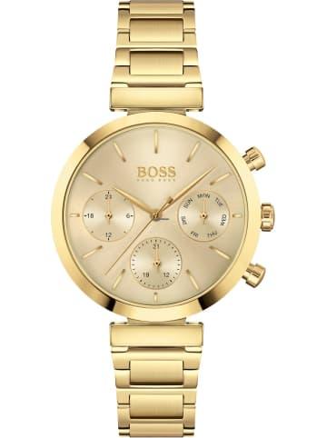 Hugo Boss Multi Zifferblatt Uhr 'Flawless' In Gold/Gold