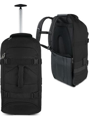Normani Reisetasche mit Rucksackfunktion 60 Liter Melano in Schwarz