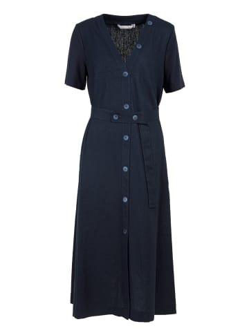 HELMIDGE A-Linien-Kleid Midikleid in blau