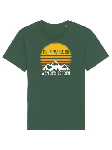 Wat? Apparel T-Shirt Mehr Wandern in Flaschengrün