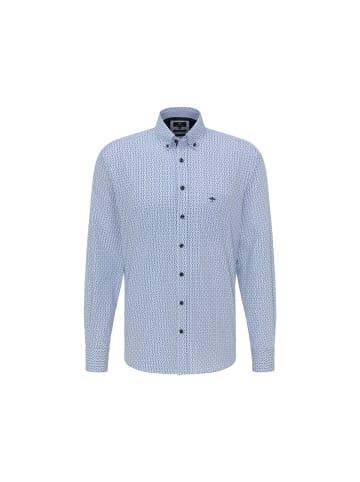 FYNCH-HATTON Langarm Freizeithemd in blau
