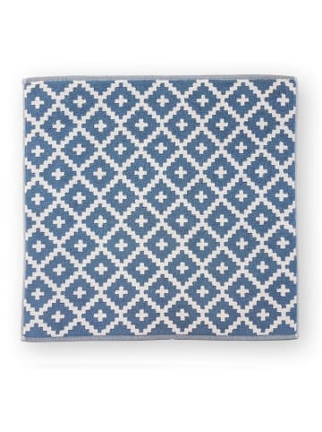 "Freundin Badevorleger ""GRAPHICS-Raute"" in Blau - (L) 67 x (B) 67 cm"