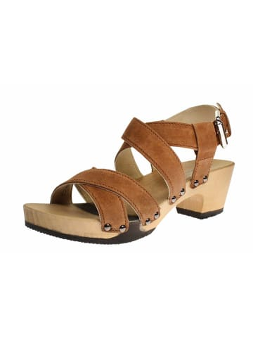 SOFTCLOX Sandalen/Sandaletten in mittel-braun