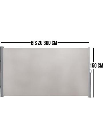 Normani Seitenmarkise Sicht- und Sonnenschutz 150 x 300 cm in Beige
