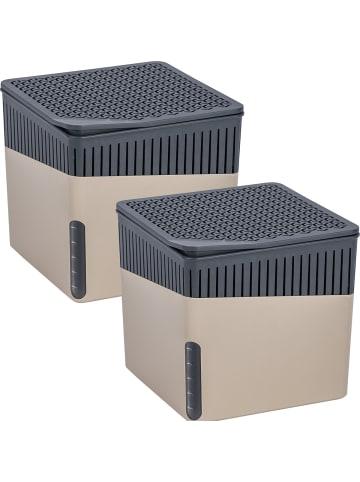 Wenko Raumentfeuchter Cube Beige 500 g 2er Set in Beige