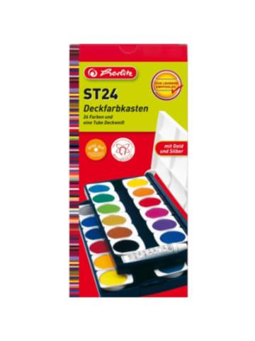Herlitz Deckfarbkasten, 24 Farben, inkl. Deckweiß