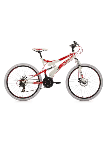 KS CYCLING Mountainbike Fully 26'' Topeka in weiß-rot