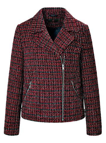 EMILIA LAY Jackenblazer Bouclé-Jacke in rot/schwarz/metallic