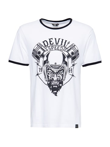 King Kerosin King Kerosin King Kerosin Shirt in angesagter Ringer-Optik Speed Devil in white