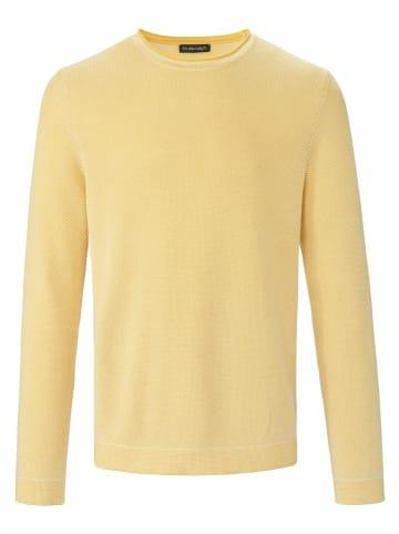 LOUIS SAYN Pullover Rundhals-Pullover in gelb/weiß