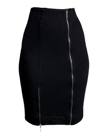 GESSICA Rock Zip -up pencil skirt in schwarz