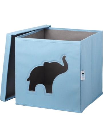 STORE IT Aufbewahrungsbox Elefant, mit Sichtfenster, blau