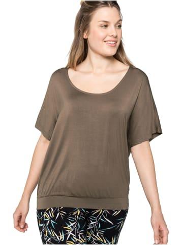 Sheego Strandshirt in dunkeltaupe