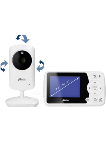 """Alecto DVM-64 - Video-Babyphone mit 2.4"""" Farbdisplay, weiß"""
