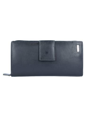 Greenland Black Nappa Geldbörse RFID Leder 20 cm in black
