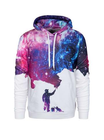 Mr GUGU & MISS GO Kapuzenpullover Galaxy Picture in galaxy purple