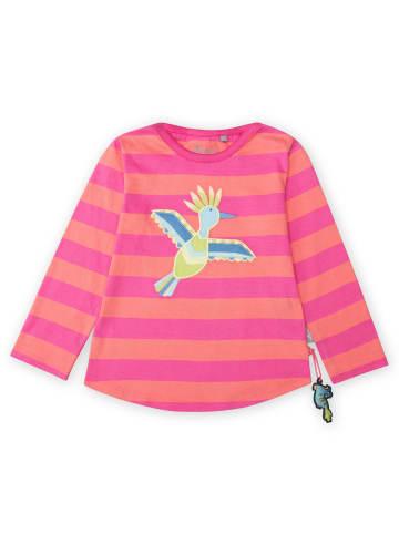 """Sigikid Langarmshirt """"Paradise Birds"""" in Pink/Orange"""