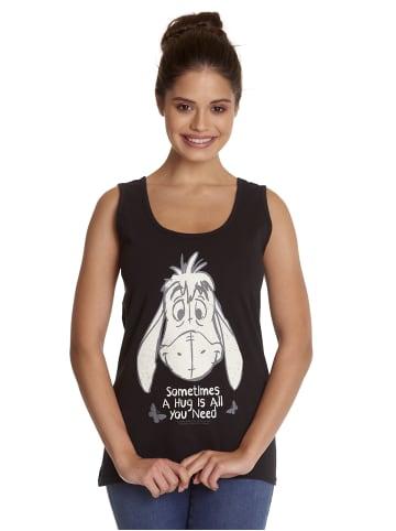 Disney Winnie Puuh Tanktop Winnie The Pooh Eeyore Hug in schwarz