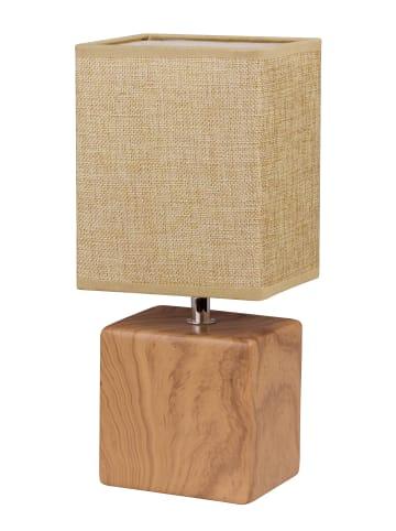 FISCHER & HONSEL Tischleuchte Log in Holzfarben / beige -  (L)13 x (B)11 x (H)31 cm