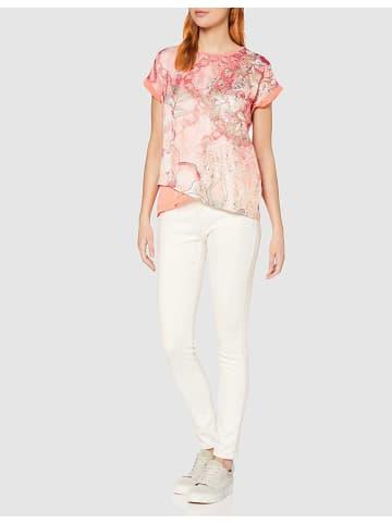 TAIFUN Rundhals T-Shirt in aprikose