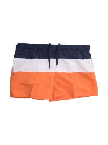 Max Men Badehose Bade-Shorts Mesh Schwimmhose 1502 in Orange-Blau