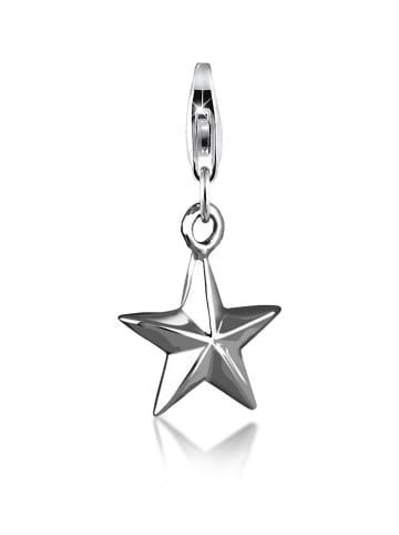Nenalina Charm 925 Sterling Silber Sterne in Silber