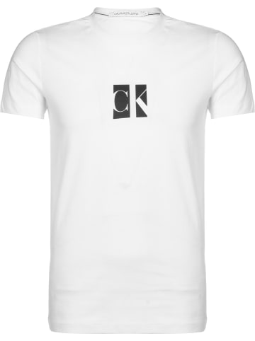 CALVIN KLEIN JEANS T-Shirt Small Center in bright white