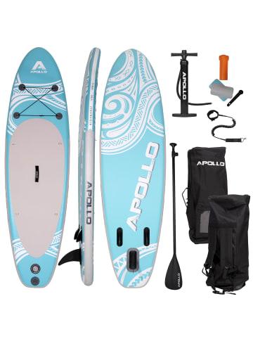 """Apollo Aufblasbares Stand Up Paddle Board """" SUP - Tikki """" in blau/weiß"""