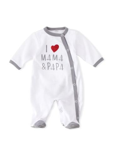Baby Sweets Schlafanzug I love Mama & Papa in bunt