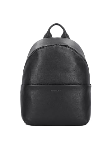 Mandarina Duck Mellow Leather Rucksack Leder 37 cm Laptopfach in nero