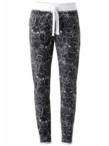 ViertelMond Jogginghose Vicky in grau/weiß