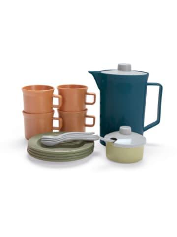 Dantoy BIOplastik Kaffee-Service für 4 in Geschenkbox, blau-kombi