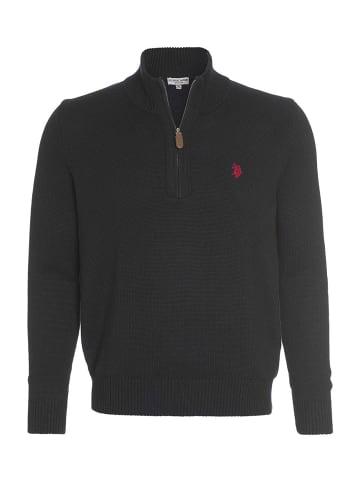 U.S. Polo Assn. Troyer Zip Pullover in SCHWARZ