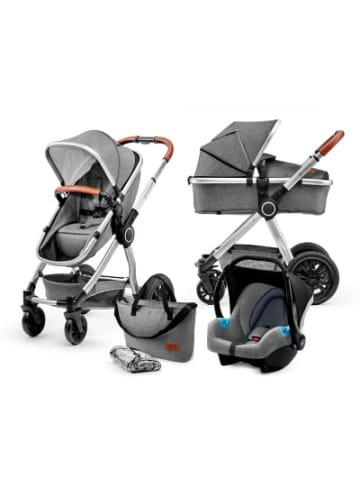 Kinderkraft Kombi Kinderwagen Veo, 3in1, grey