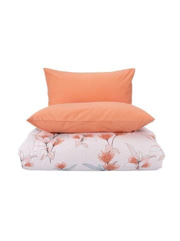 """BELLA MAISON Bettwäsche Set """"Noemi"""" 100% Baumwolle Ranforce in Orange"""