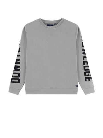 TOM TAILOR kids Sweatshirt mit Schriftzug in drizzle melange