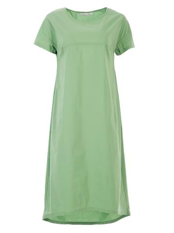 HELMIDGE Midi-Kleid in A-Linie in hellgrun