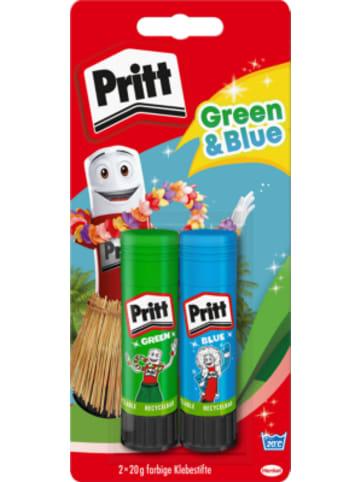 Henkel Pritt Klebestifte grün & blau, 2 x 20 g