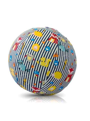 BubaBloon  Textile Ballonhülle, blau-weiß gestreift, mit Tiermotiven