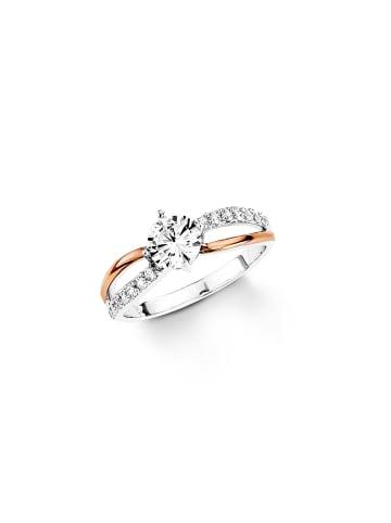 Amor Ring Silber 925, rosévergoldet in Bicolor
