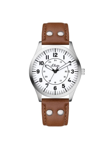 S.Oliver Time Armbanduhr SO-4285-LQ in braun