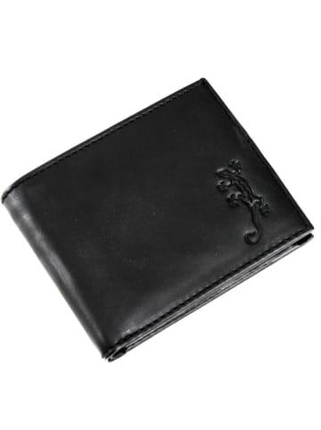 Oxmox Leather Pocket-Geldbörse Leder 10,5 cm in lizard