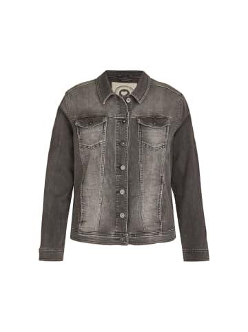 VIA APPIA DUE  Jacke Jeansjacke mit unifarbenem Stoff in jeans dunkelgau