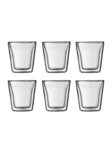 "Bodum 6er-Set Gläser ""CANTEEN"" in Transparent - 0.1 l"