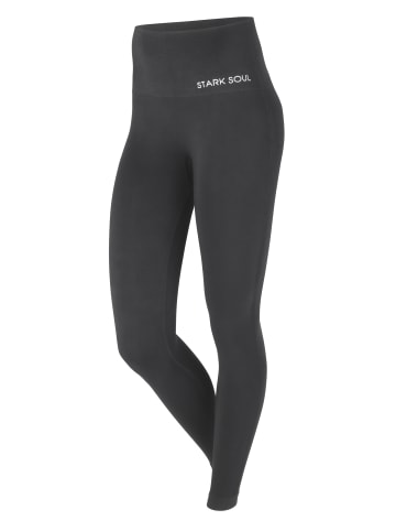 Stark Soul® High Waist Sport Leggings in Schwarz